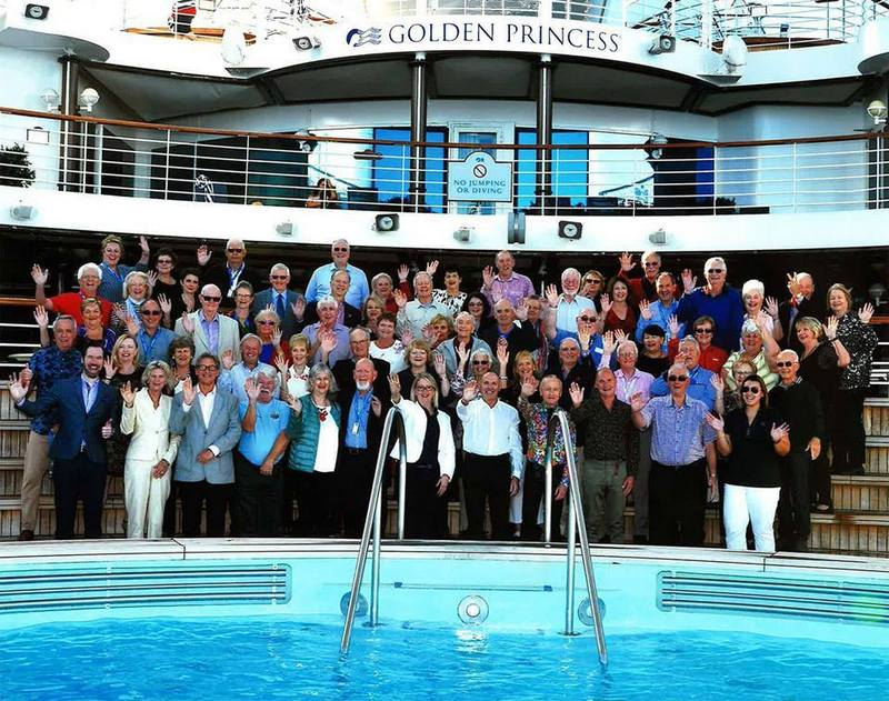 POSH Club members boarded Golden Princess for a 3 night cruise to Melbourne