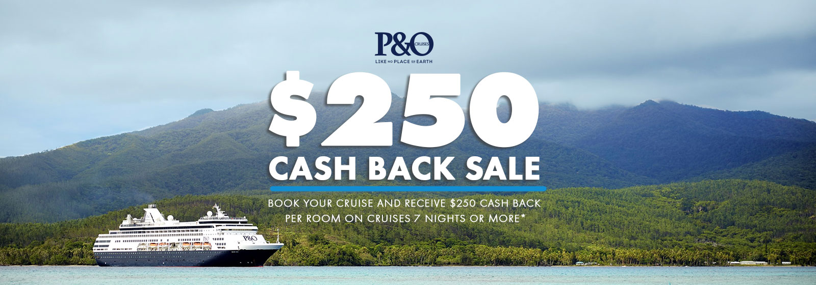P&O Cash Back Sale