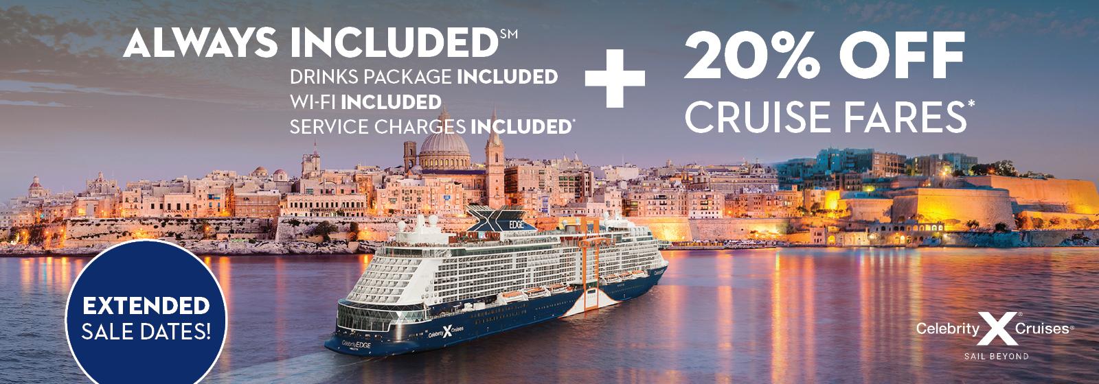 Celebrity Cruises - Save 20%
