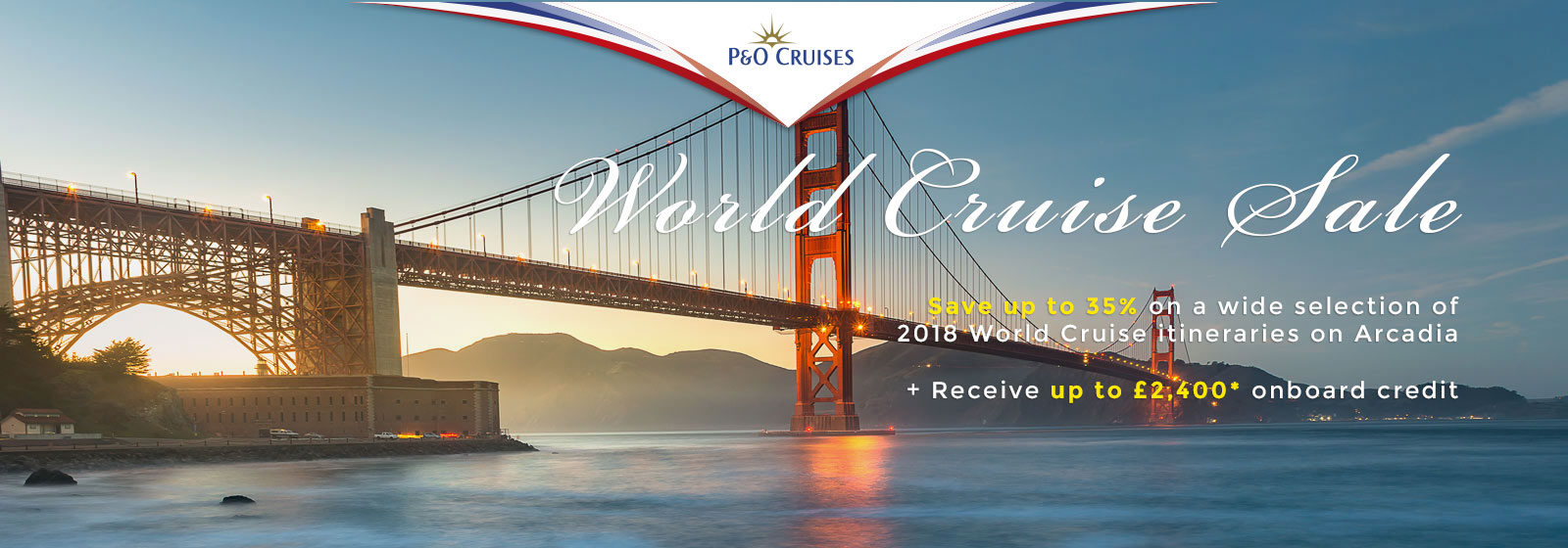 P&O World Cruises hero