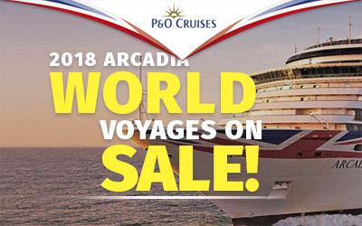 Arcadia World Voyages Sale