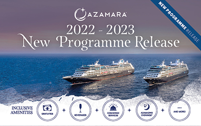Azamara - NEW Release Sailings 2022/2023