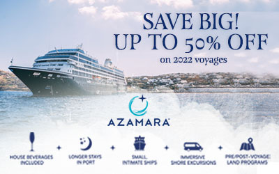Azamara - Save up to 50% for 2022