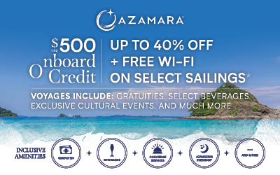Azamara - Savings Sale + FREE WiFi
