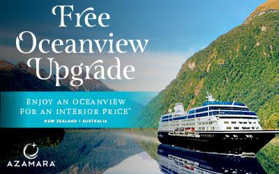 Azamara - FREE Oceanview Upgrade