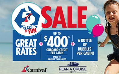 Carnival 5 Years Of Fun Sale