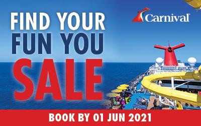 Carnival Cruises - Find Your Fun Sale