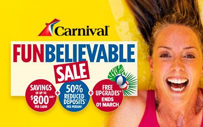 Carnival - Funbelievable Sale