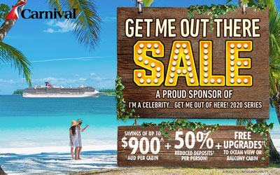 Carnival Cruises - Get Me Out There Sale