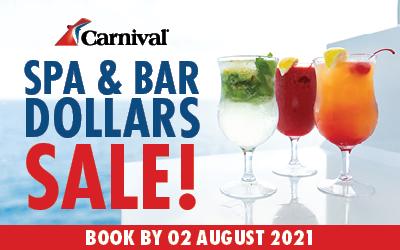 Carnival Cruises - Spa & Bar Dollars Sale