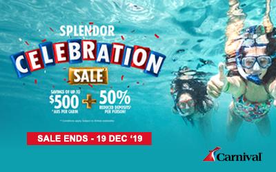 Carnival - Splendor Celebration Sale