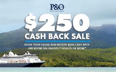 P&O Cash Back Sale
