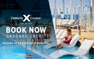 Celebrity - BOOK NOW Bonus OBC
