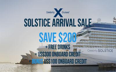 Celebrity Solstice Arrival Sale