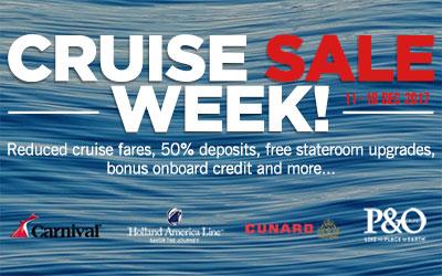 Cruise Sale Week