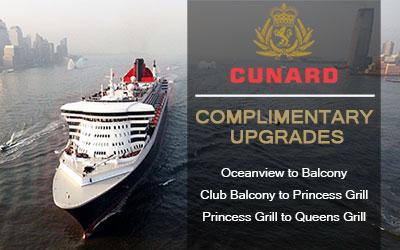 Cunard 'Upgrade on Us' Offer
