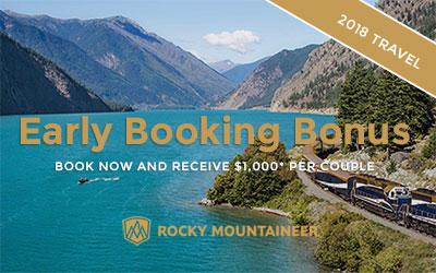 Rocky Mountaineer Early Booking Bonus