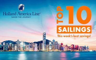HAL - Top 10 Sailings