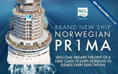 Norwegian Cruise Line - Brand New Prima