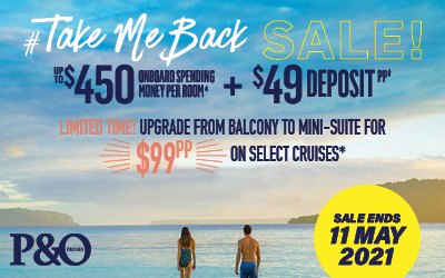P&O - Take Me Back Sale (Value Fare)