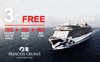 Princess Cruises - Three for Free