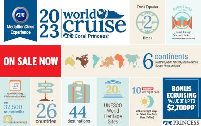 Princess - 2023 Coral Princess World Cruise