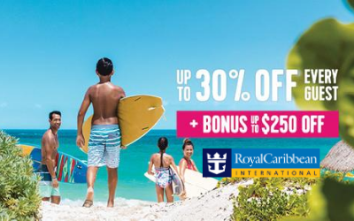 Royal Caribbean - Up to 30% OFF + BONUS Savings