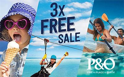 P&O's 3x Free Sale