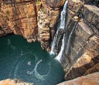 Soaring Red Cliffs and Waterfalls of the Kimberley