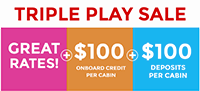 Carnival Triple Play Sale