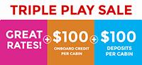 Carnival Triple Play Sale