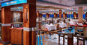 Norwegian Dawn cruise ship Bamboo dinning room with a taste of Asia