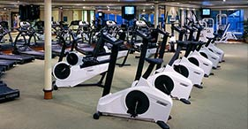 Norwegian Dawn cruise ship El Dorado fitness center and exercise facilities.