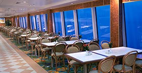 Norwegian Dawn cruise ship Garden Café dinning room.