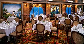 Norwegian Dawn cruise ship La Cucina restaurant with authentic Italian