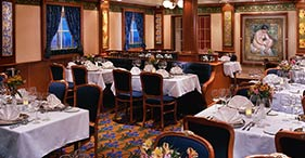 Norwegian Dawn cruise ship LeBistro French Restaurant.