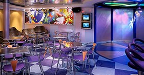 Norwegian Dawn cruise ship Teen Club with video, jukebox, fooseball and air hock