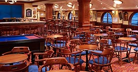 Norwegian Dawn cruise ship Pearly Kings Pub featuring English pool, large TV's a