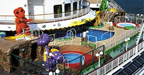 Norwegian Dawn cruise ship T-Rex Kids Pool.