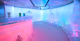 Norwegian Epic cruise ship The Ice Bar where everything is made of ice.