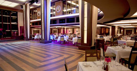 Norwegian Epic cruise ship The Manhattan Room with floor to ceiling windows and