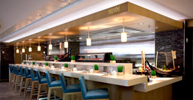 Norwegian Epic cruise ship Wasabi where traditional Japanese food is prepared ri
