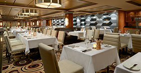 Norwegian Gem cruise ship Cagney's Steakhouse.