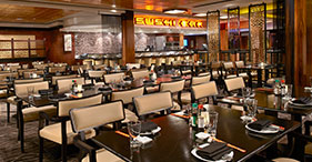 Norwegian Gem cruise ship Orchid Garden Asian Restaurant includes Japanese, Thai