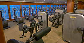 Norwegian Gem cruise ship Body Waves Fitness Center with classes from 6am to 11p