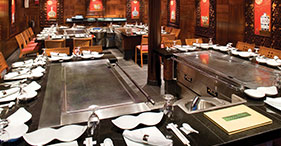 Norwegian Gem cruise ship Teppanyaki featuring authentic Japanese food.
