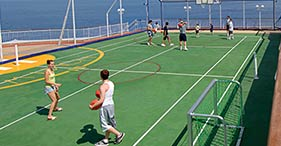 Norwegian Gem cruise ship Basketball and Tennis court.