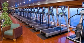 Norwegian Jade cruise ship Fitness Center with classes from 6am to 11pm.