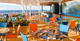 Norwegian Jade cruise ship Indoor/Outdoor Buffet Restaurant with a family-friend