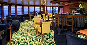 Norwegian Jade cruise ship Star Bar with a 1920's gangster theme.